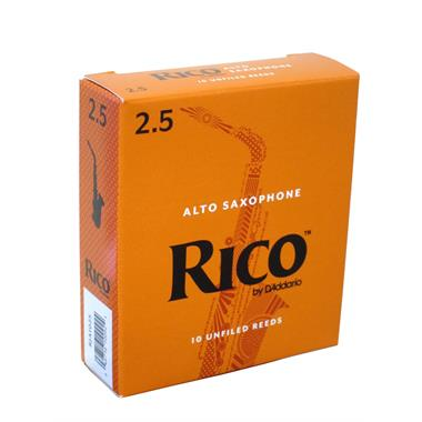 Rico alto sax reeds strength 2½ (box of 10) thumbnail