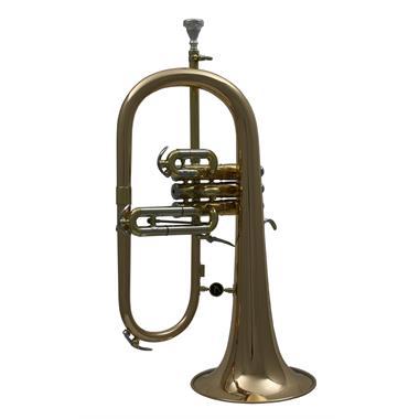 Courtois 154R-1 flugelhorn (lacquer) gold brass bell thumbnail
