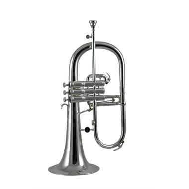 Courtois 154R-2 flugelhorn (silver) gold brass bell thumbnail