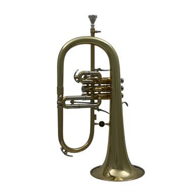 Courtois 155R-1 flugelhorn (lacquer) gold brass bell thumbnail