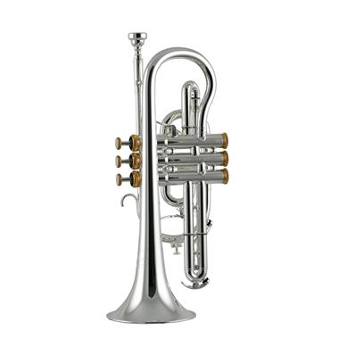 Willson Celebration 450 B flat cornet (silver, gold trim) thumbnail