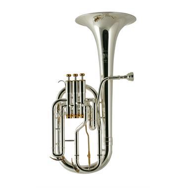 Besson Prestige BE2050G-2G tenor horn (silver) gold brass bell thumbnail