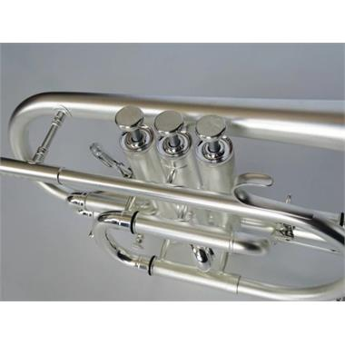 Besson Sovereign Anniversary BE928GT-2M B flat cornet (satin silver) thumbnail