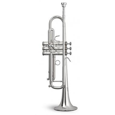 Stomvi Titan B flat trumpet (silver) copper bell thumbnail