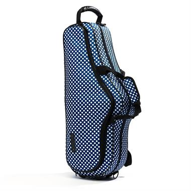 Beaumont alto sax case (blue polka dot) thumbnail