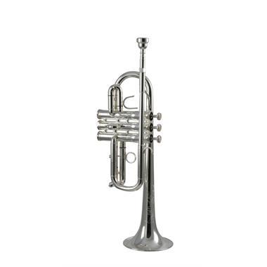 Eastman ETR540S E flat/D trumpet (silver) thumbnail