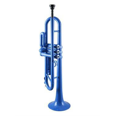 Tromba B flat plastic trumpet (blue) thumbnail