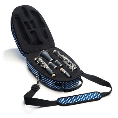 Beaumont clarinet case (blue polka dot) thumbnail