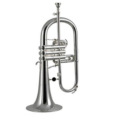 Courtois 155R-2 flugelhorn (silver) gold brass bell thumbnail