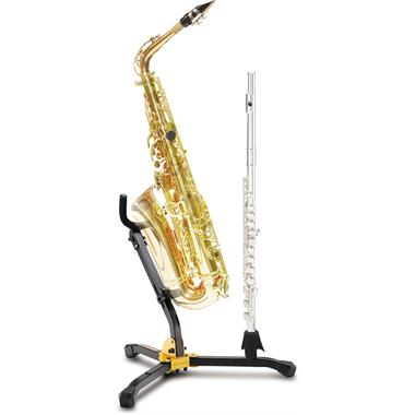 Hercules DS532BB saxophone stand with flute or clarinet peg thumbnail