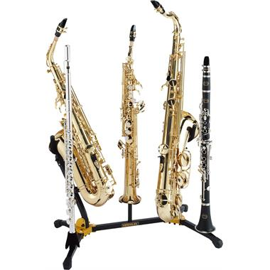 Hercules DS538B duo saxophone stand (with sop sax, flute and clarinet pegs) thumbnail