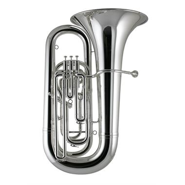 Besson Sovereign BE994-2 B flat tuba (silver) thumbnail