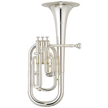 [Ex-Demo] Yamaha YAH203S tenor horn (silver) thumbnail