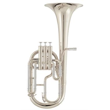 [Ex-Demo] Geneva Mentor tenor horn (silver) thumbnail