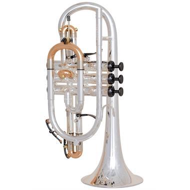 [Ex-Demo] Geneva Cardinal B-flat cornet (silver) thumbnail