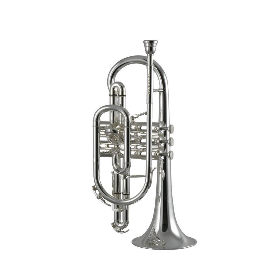 Besson Sovereign BE928-2 B flat cornet (silver) Thumbnail Image 0