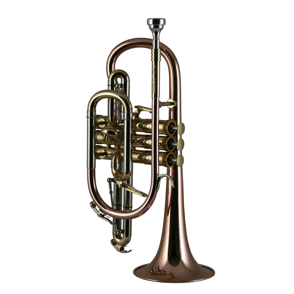 Catelinet Rousseau HC20 B flat cornet (lacquer) Thumbnail Image 0
