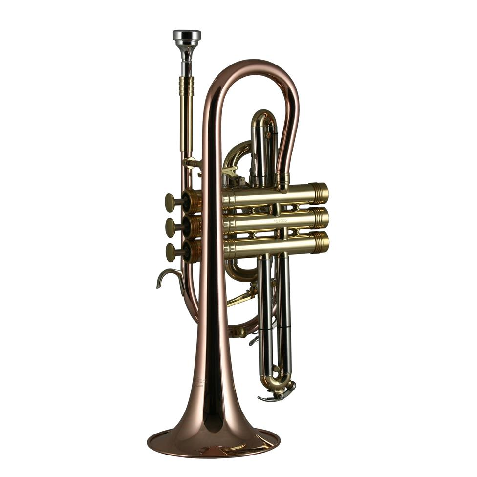 Catelinet Rousseau HC20 B flat cornet (lacquer) Thumbnail Image 1