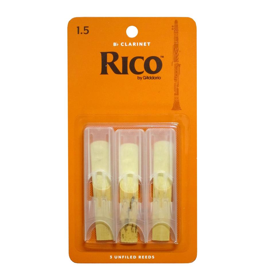Rico B flat clarinet reed (3-pack) Image 1