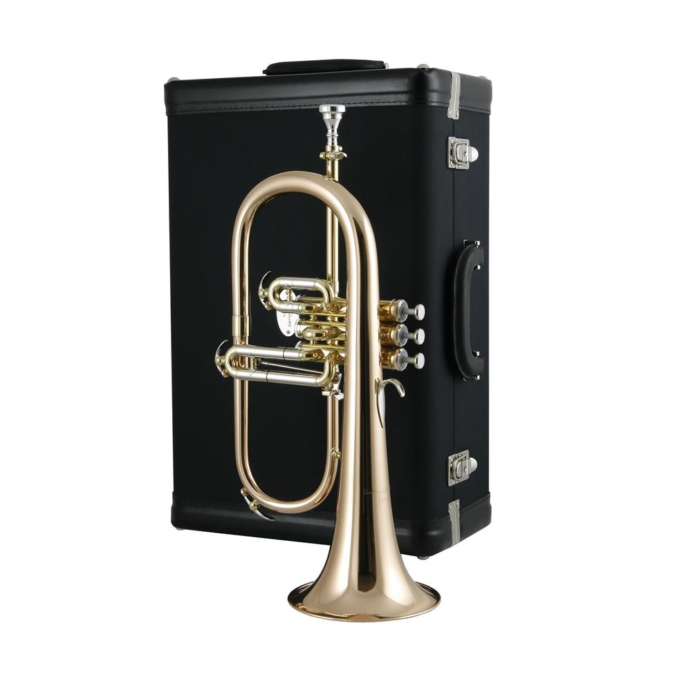 Courtois 'Reference' 159R-1 flugelhorn (lacquer) gold brass bell Thumbnail Image 2