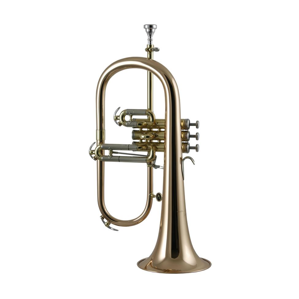 Courtois 'Reference' 159R-1 flugelhorn (lacquer) gold brass bell Thumbnail Image 1