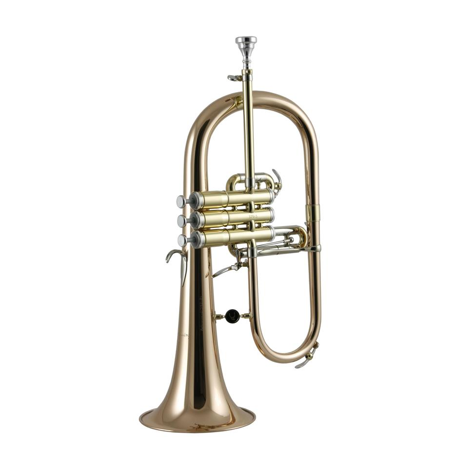 Courtois 'Reference' 159R-1 flugelhorn (lacquer) gold brass bell Thumbnail Image 0