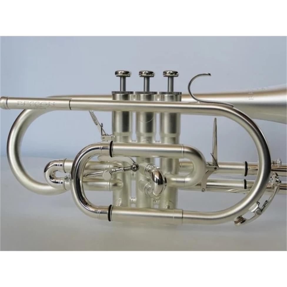 Besson Sovereign Anniversary BE928GT-2M B flat cornet (satin silver) Thumbnail Image 0