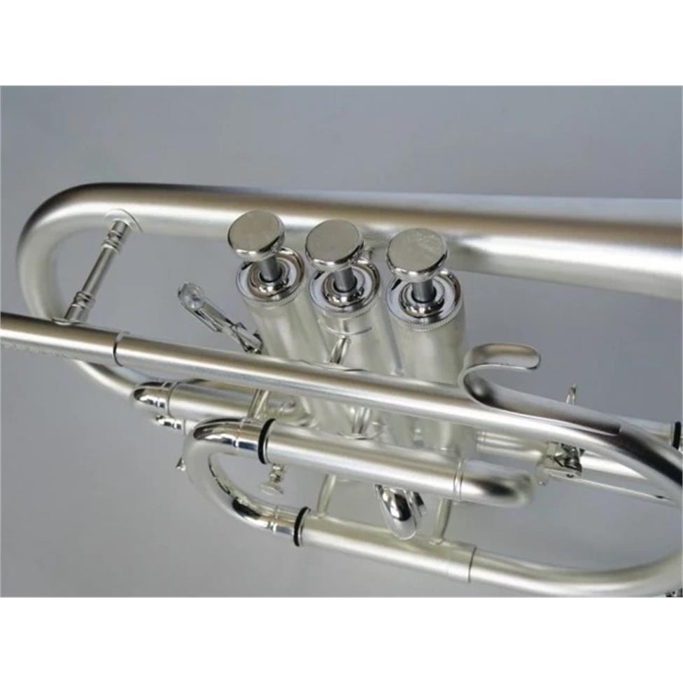 Besson Sovereign Anniversary BE928GT-2M B flat cornet (satin silver) Thumbnail Image 1