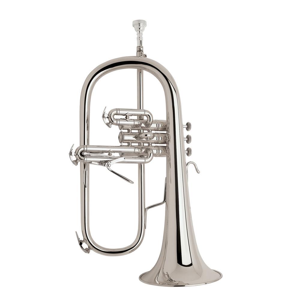 Vincent Bach 183SG flugelhorn (silver) gold brass bell Image 1