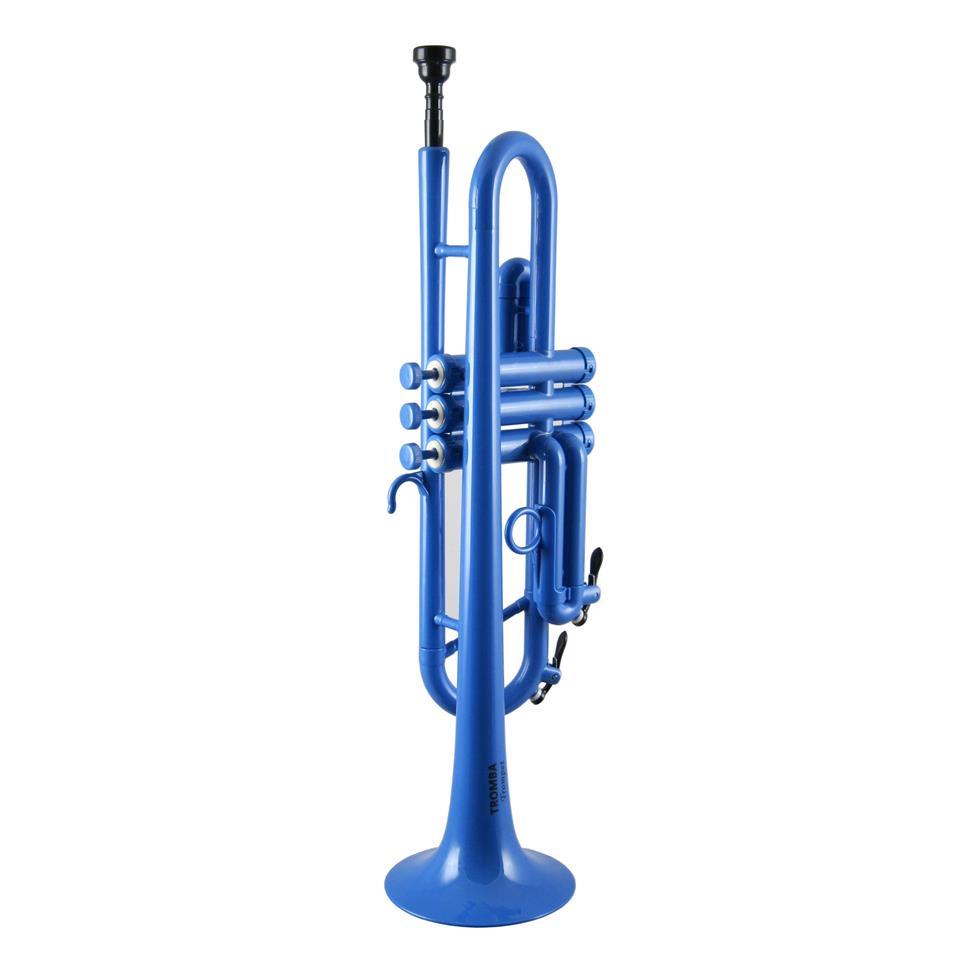 Tromba B flat plastic trumpet (blue) Thumbnail Image 0