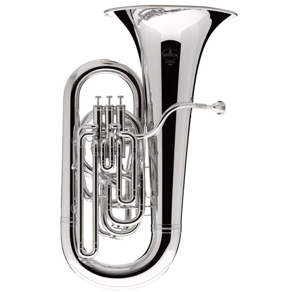 Besson Sovereign BE982-2 E flat tuba (silver) Image 1