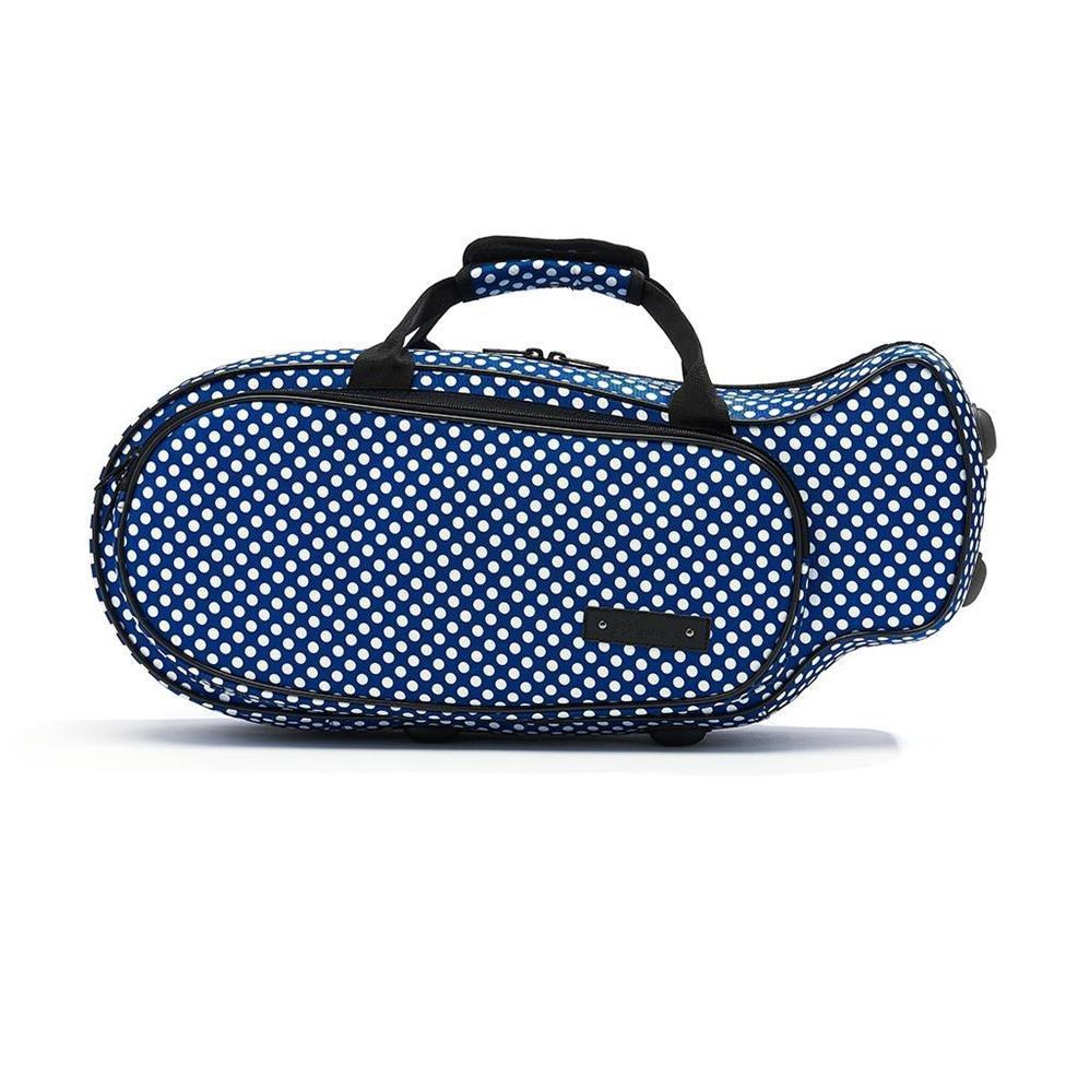 Beaumont trumpet case (blue polka dot)