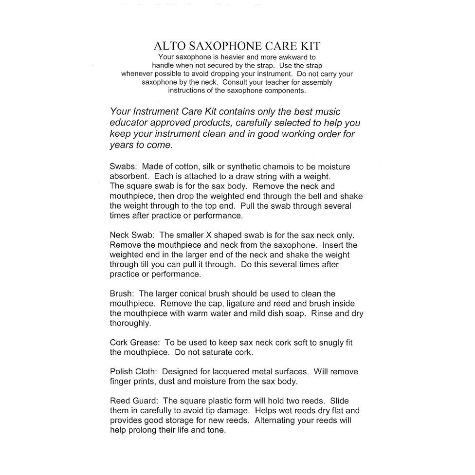 Superslick alto saxophone care kit Thumbnail Image 2
