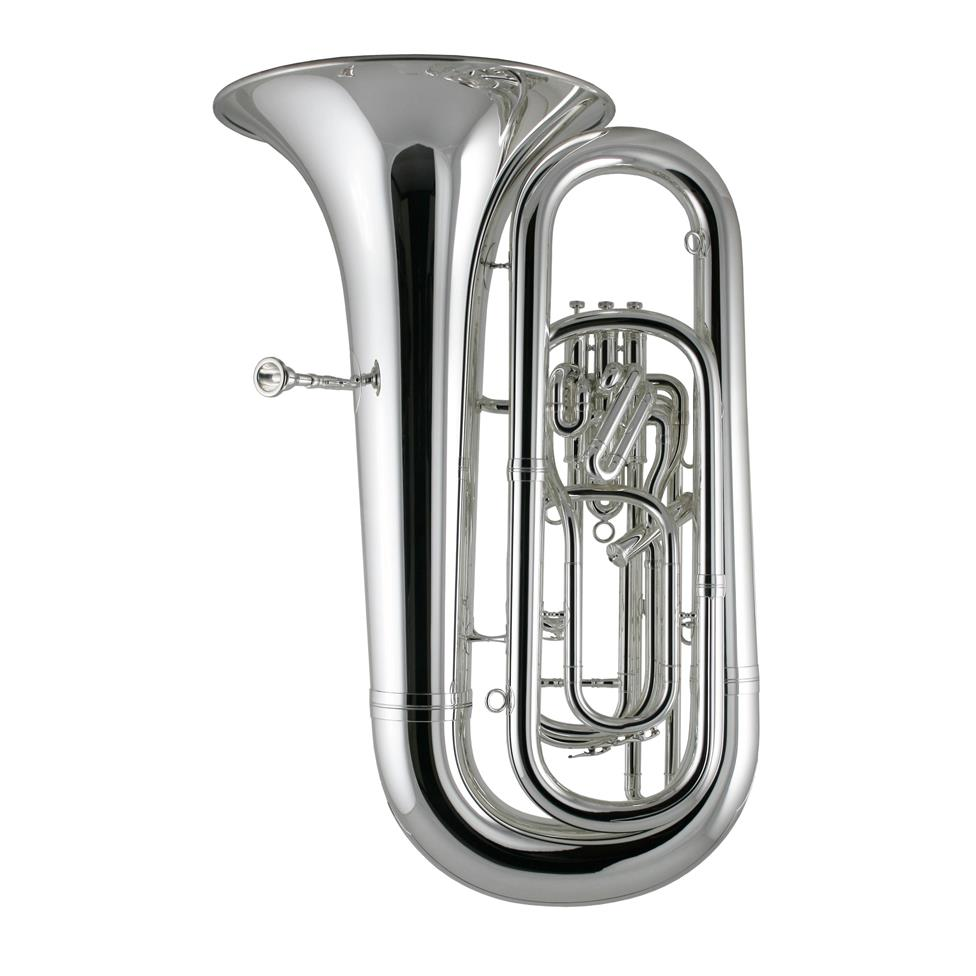Besson Sovereign BE994-2 B flat tuba (silver) Thumbnail Image 1