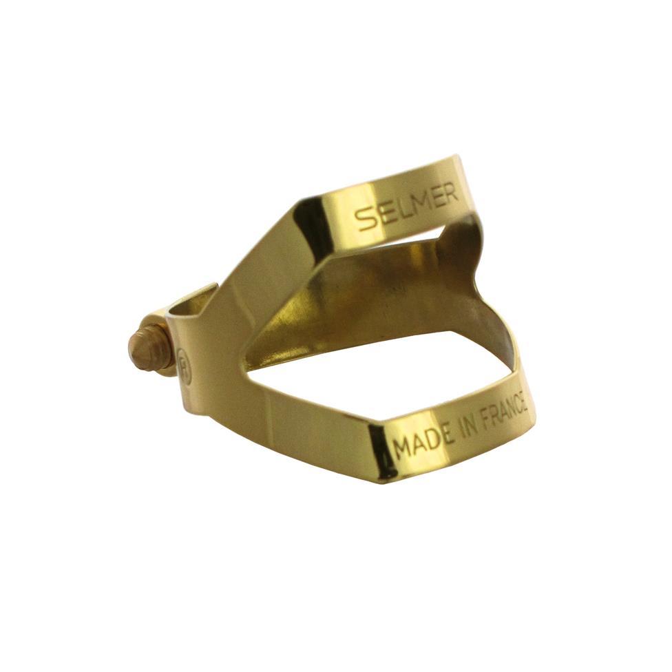 Selmer alto sax ligature (gold lacquer)