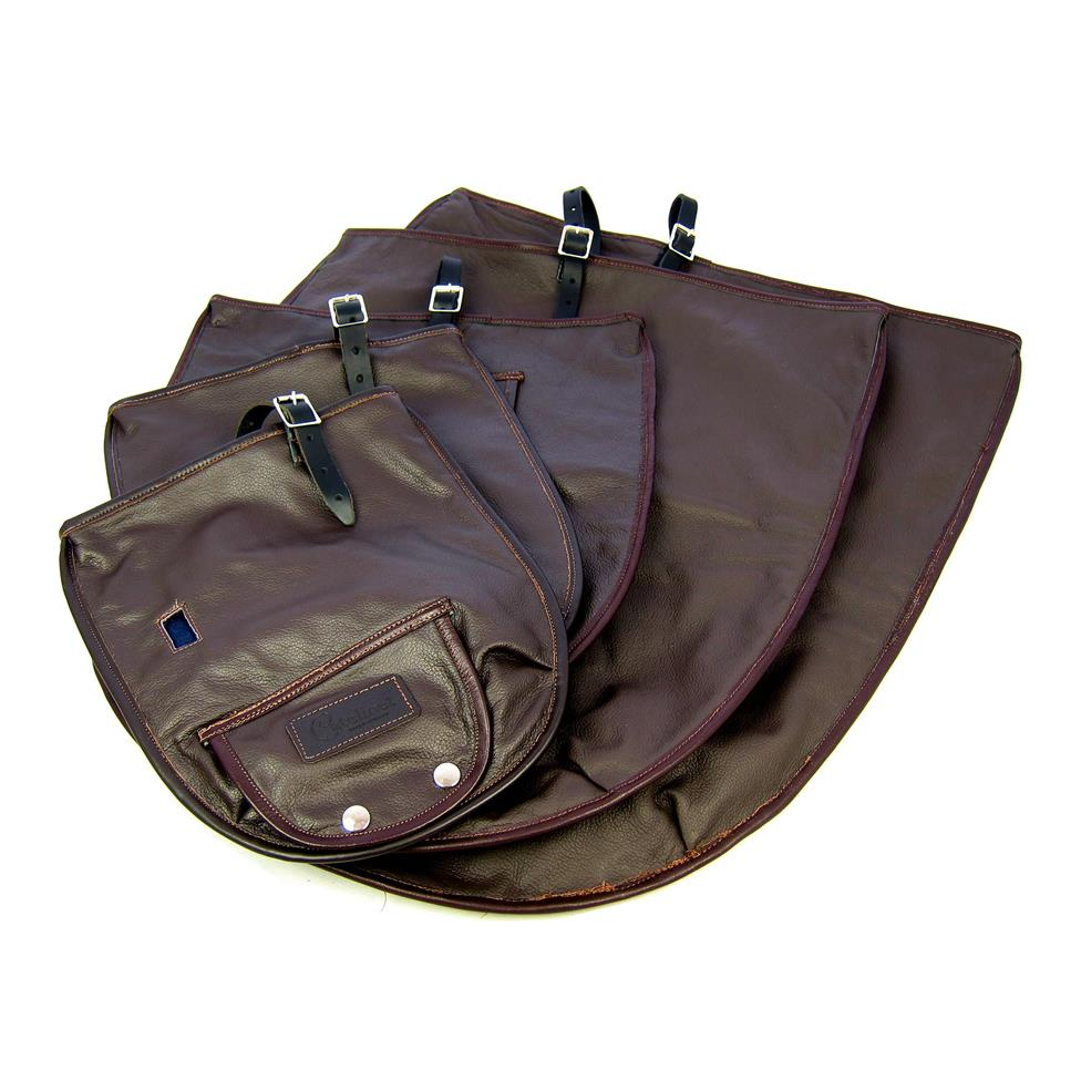 Catelinet half covers (brown leather)