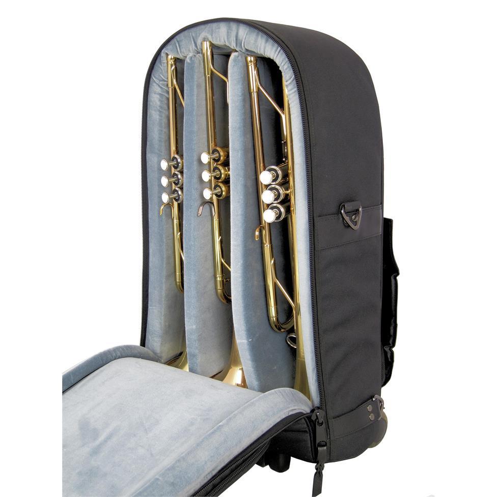 Vincent Bach HLBL109W triple trumpet wheelie gigbag