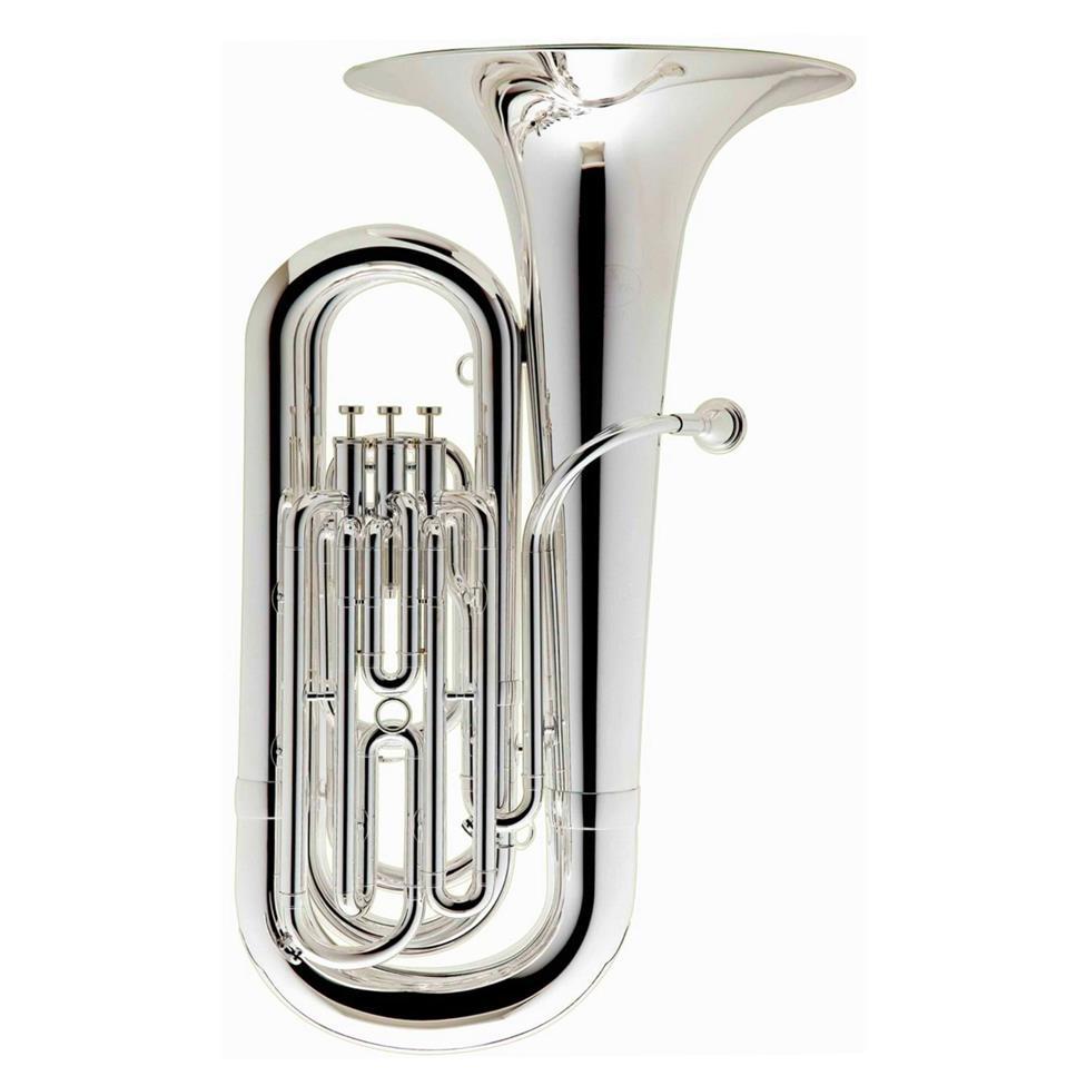 [Ex-Demo] Besson 1087 compact B-flat tuba (silver) Image 1