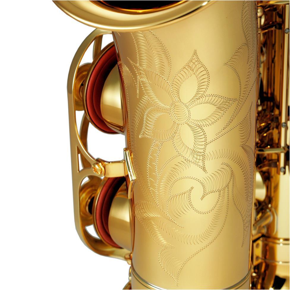Yamaha YAS-480 alto saxophone (lacquer) - engraving