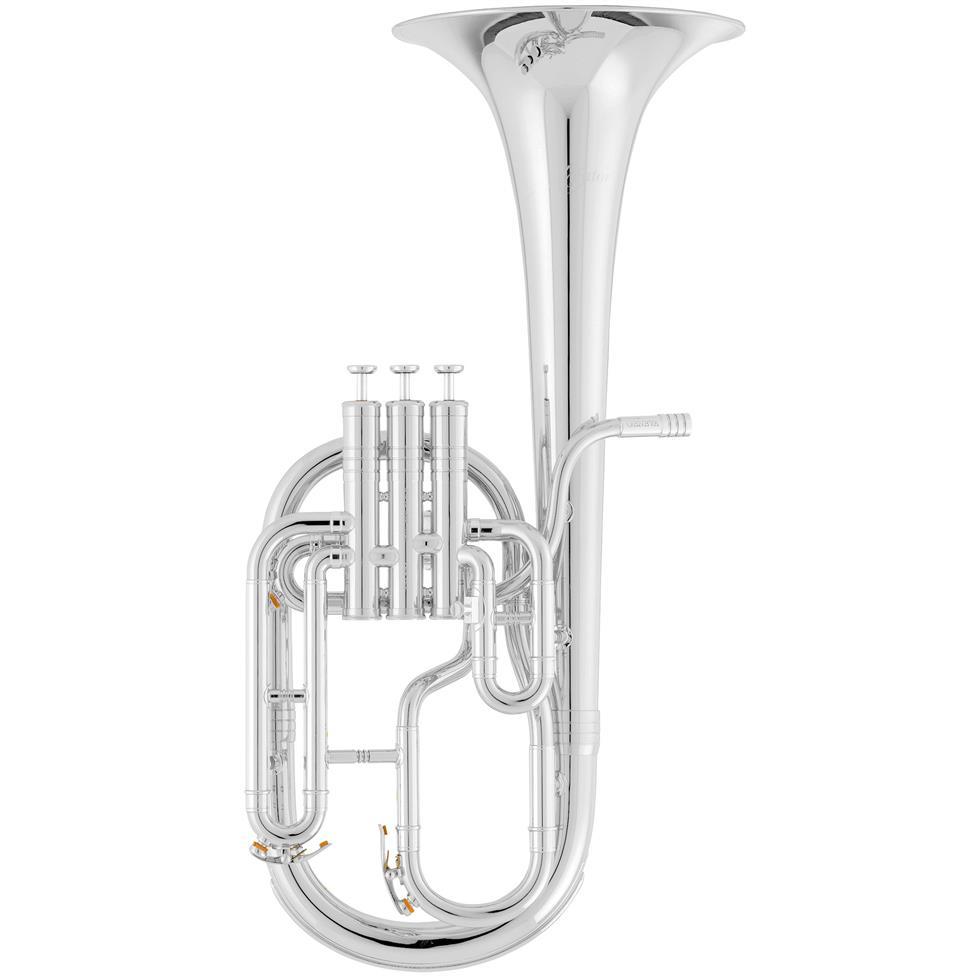 [Ex-Demo] Geneva Mentor tenor horn (silver) Image 1