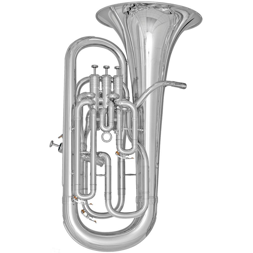 [Ex-Demo] Geneva Mentor euphonium (silver) Image 1