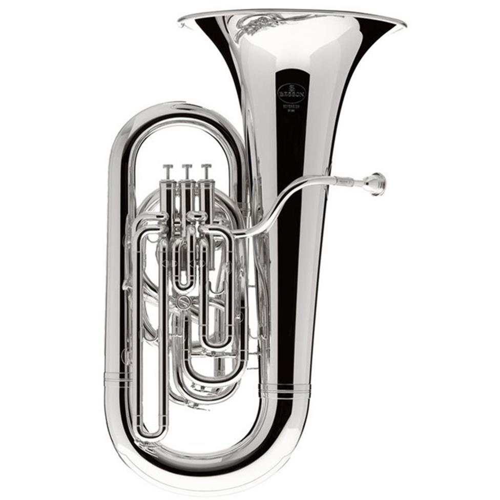 Besson Sovereign 9822 E-flat tuba (silver) Image 1