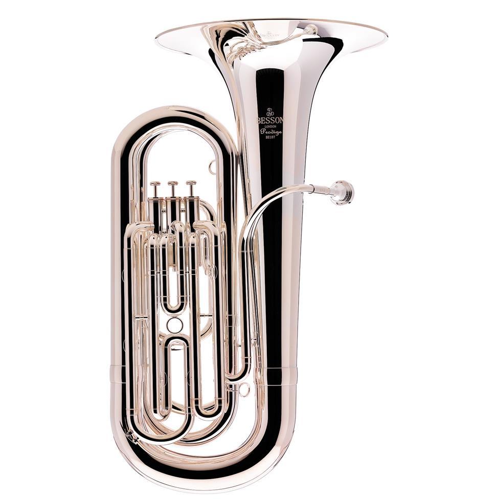 Besson Prodige 187 B-flat tuba (silver) Image 1